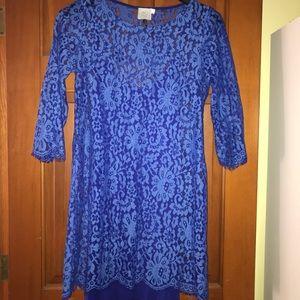 Royal Blue Lace Dress from Anthro